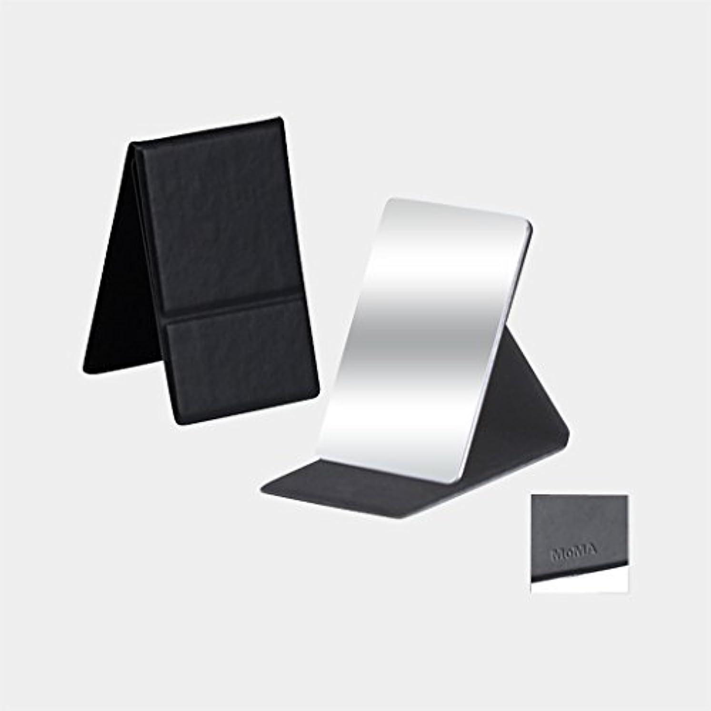 厄介な暴行爆発物MoMA ステンレス コンパクトミラー ブラック