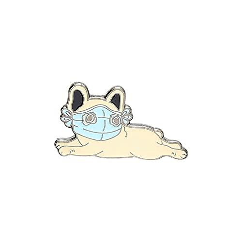 Animal Enamel Pin Cat Dog Pig Corgi Husky Bulldog Brooches Bag Lapel Pin Cartoon Fun Badge Jewelry-French Bulldog