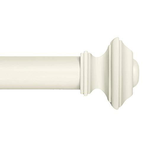 Ivilon Drapery Treatment Window Curtain Rod - Square Design 1 1/8 Rod. 120 to 240 Inch - Ivory/White
