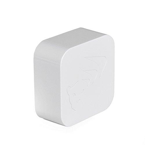 WiCub WiFi Kabelloses Thermometer / Hygrometer - Luftfeuchtigkeit und Temperatur Smart Sensor mit Warnungen (weiß)