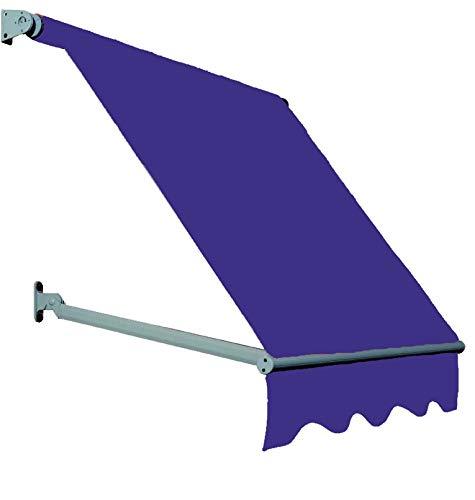 Toldo de caída reforzada con voladiza y brazos ajustables a 180°, tela o PVC Parà Tempotest disponible en varios tamaños y colores (200, proyección 140 cm)