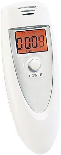 newgen medicals Alkotester: Kompakter Alkoholtester für bis zu bis 1,99 Promille, mit LCD-Display (Alkoholmessgerät)