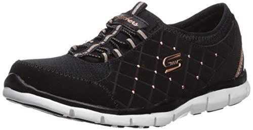 Skechers Gratis-High-Class, Zapatillas sin Cordones Mujer, Negro (BKRG Black Trubuck/Durabuck/Mesh/Rose Gold Trim), 36 EU