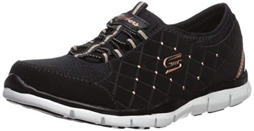 Skechers Damen Gratis - High-class Slip On Sneaker, Schwarz (Black/Rose Gold), 8 (41 EU)