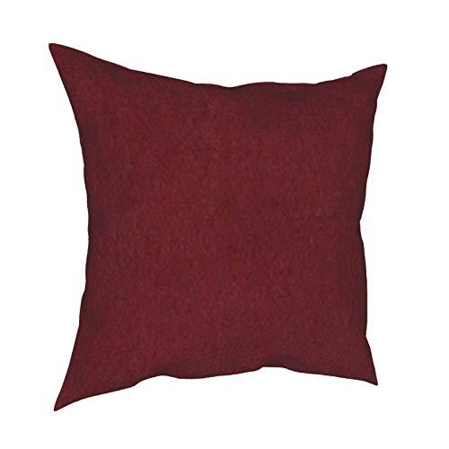 Funda de cojín de algodón suave de color piel sintética natural, color fucsia y granate