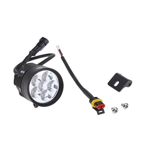 D DOLITY 12 V 7000 K 60 W Phare Antibrouillard LED de Moto Lumière Brouillard Étanche