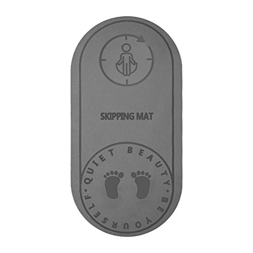 Delaspe Tapis de Yoga Tapis de Corde à Sauter antidérapant Entraînement Sportif Tampon de Fitness pour l