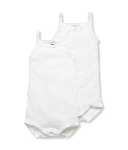 Petit Bateau Unisex Baby 2P BRET Body, Weiß (Special Lot 00 00), 92 (Herstellergröße: 24m/86cm) (2er Pack)