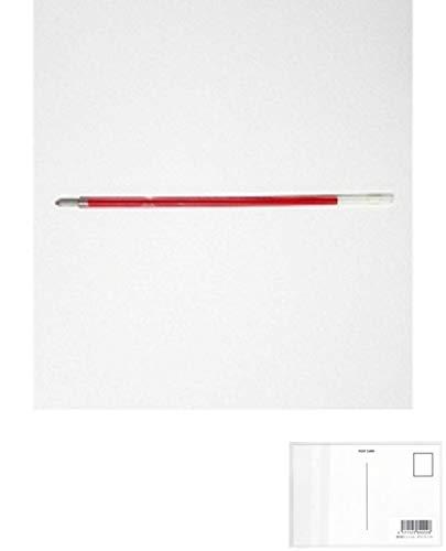 三菱鉛筆 ボールペン用替芯SA−14CN 赤 10本入 + 画材屋ドットコム ポストカードA