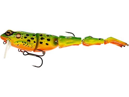 Westin Freddy the Frog Wakebait 13cm 18g Floating - Frosch Köder, Farbe:Green Hot Frog