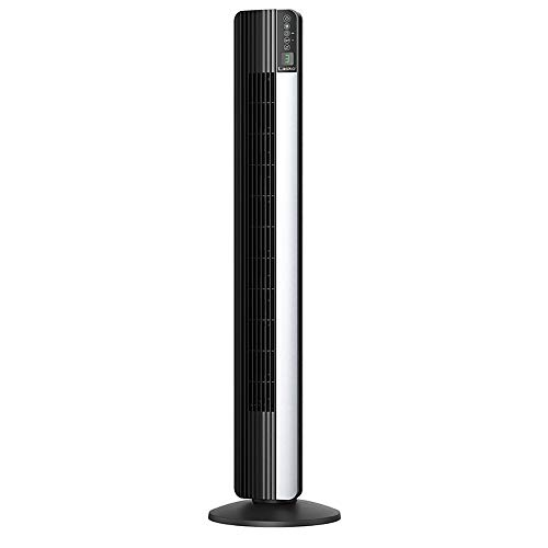 Lasko Ultra Air Powerful 3 Speed Electric Slim 48 Inch Tall Oscillating Upright Tower Fan with Fresh Air Ionizer, Black