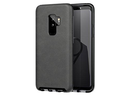 tech21 EVO Luxe Faux Leather Case voor Samsung Galaxy S9+ - zwart leer