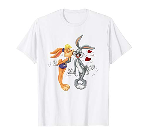 Looney Tunes Bugs and Lola Kiss Valentine's Day T-Shirt