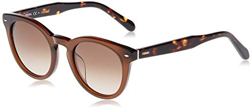 Fossil Women's FOS2060s Round Sunglasses, BROWN, 48 mm