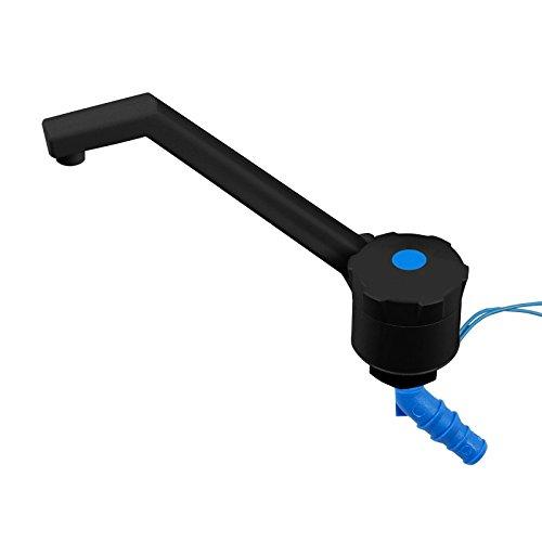 Unbekannt 12v Wasserhahn für Wohnmobil, Wohnwagen - ABS Kunststoff, Bauhöhe: 135 mm, 90 g, schwarz