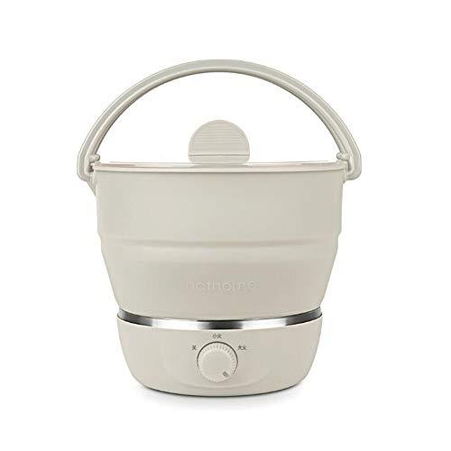 Estómago caliente20,5 * 18 cm de Gel de sílice nórdica Sartén eléctrica Plegable eléctrico Pot Hot Pot Caldera