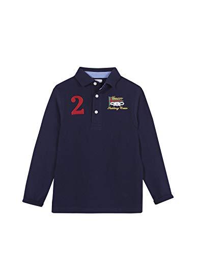 Gocco Polo PIQUÉ Marino Undershirt, 5-6 para Niños