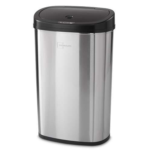 Mainstay Motion Sensor Trash Can, 13.2 Gallon, Stainless Steel (Stainless Steel) (Stainless Steel) (Stainless Steel) (Stainless Steel) (Stainless Steel)