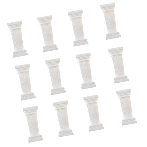 MagiDeal 12 Stück Griechische Säule Antik Blumensäule Dekosäule Säulen Podest Hochzeit Deko - 3 Zoll