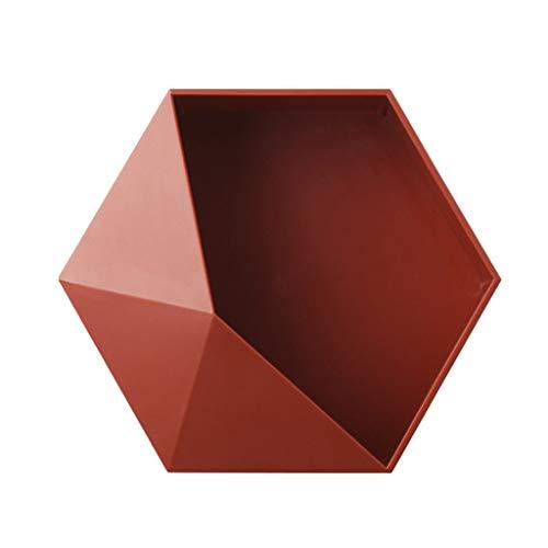 geneic Estante flotante para colgar en la pared de estilo nórdico, geométrica, hexagonal