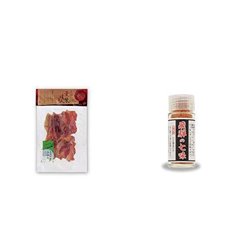 [2点セット] 薫製達人 豚バラベーコン燻製(60g)[飛騨山椒付き]・手造り 飛騨の七味(15g)