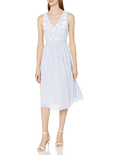 French Connection Women's Dalia Sheer Dress, Salt Water/Summer White, 6
