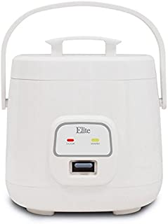 Elite Cuisine ERC-135 Maxi-Matic 4 Cup Mini Rice Cooker, White