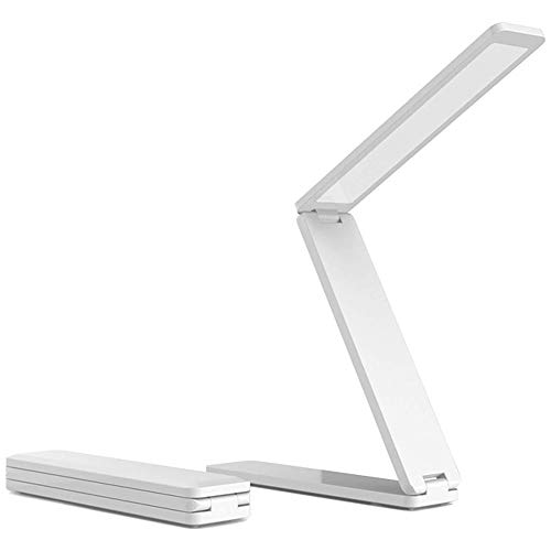 Lámpara de escritorio LED plegable para lectura de trabajo, iluminación de noche, lámpara de noche regulable con 3 niveles de luminosidad, lámpara de escritorio portátil