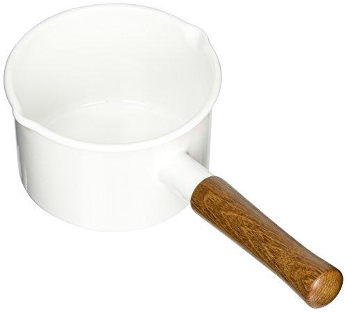 富士ホーロー 片手鍋 ミルクパン エトル 14cm ホワイト EE-14MW