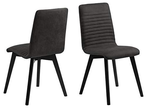 AC Design Furniture Sofi Silla de Comedor, Poliéster, Gris, L: 43 x W: 42 x H: 90 cm