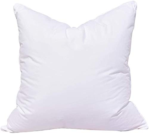 Fantasnight Cushion Inner Pads (Pack of 2, White) Sofa and Bed Pillows Core 18' x 18' (45 x 45 cm) Polyester Fiber Fillers Cotton Cover