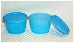 Tupperware Japan's largest assortment Max 64% OFF 4oz SNACK CUPS Lunch Dip New Set Aqua Mini Blue Bowl
