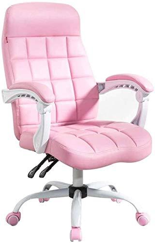 YONGYONGCHONG Silla de oficina ergonómica con apoyabrazos de respaldo alto, silla de oficina resistente, acolchado grueso, silla de escritorio de cuero