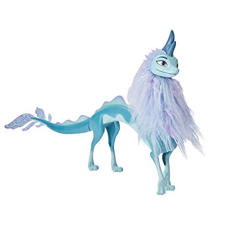 Disney Raya and the Last Dragon - Figura de la dragona Sisu con cabello - Juguete para niñas y niños de 3 años en adelante