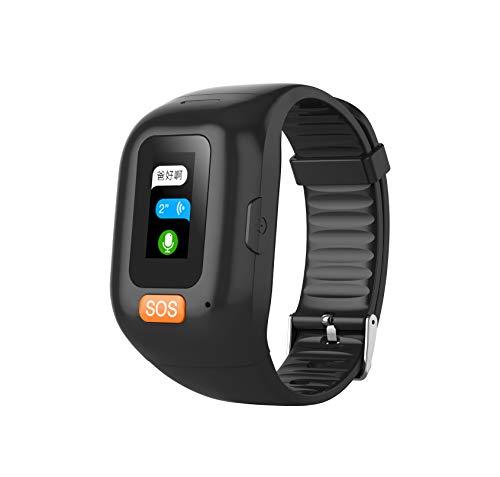 P67 - Smartwatch impermeabile con touch screen a LED, 0,96 pollici, GPS in tempo reale, chiamata di emergenza sì, cardiofrequenzimetro, anti-smarrimento per anziani