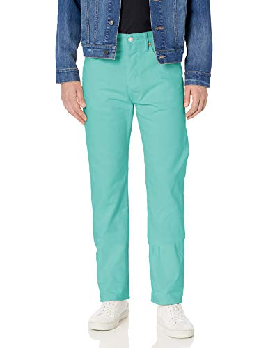 Levi's Herren 501 Original Shrink-to Jeans, Blue Curacao - Schrumpf-fit, 36 W/34 L