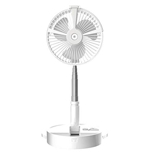 LSHUAIDJ Ventilador de circulación de Aire con función de humidificador Ventilador de Agua telescópico Plegable USB Ventilador silencioso Ventilador eléctrico Blanco 2020