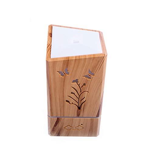 Kaper Go Luces De Colores De Madera Cuadrado Hueco De Aire Humidificador Ultrasónico De Ciruela Crisantemo Humidificador Aromaterapia
