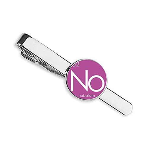 Química Elementos Período Mesa Actinida Nobelium No Corbata Corbata Clip Bar Regalo Hombre de Negocios