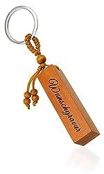 Mister Boncuk® Holz Schlüsselanhänger mit Gravur | Personalisierbar mit Wunschgravur | Personalisierter Holz Schlüsselanhänger | Individuelle Geschenke… (2 Seiten Gravur)