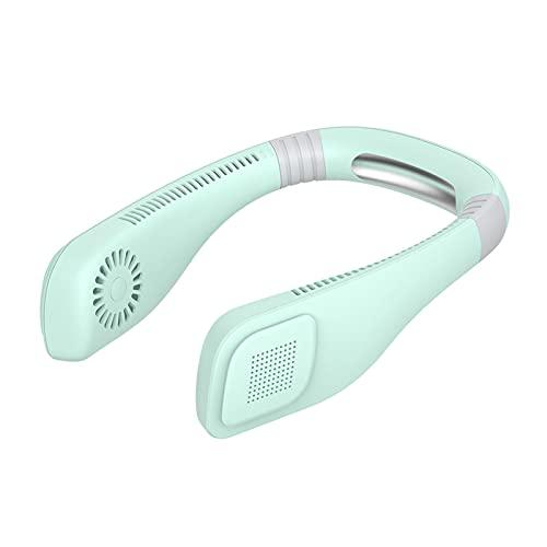 Ventilador de cuello portátil, recargable de 3 velocidades, disponible para correr, mini USB para hacer ejercicio, escalar montañas, ir de compras