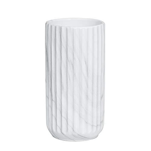 HCHLQLZ 18CM Weiß Marmor Vase Keramik Vasen Blumenvase Deko Dekoration