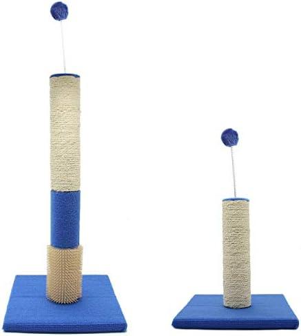 BPS Rascador para Gatos con Bola, Material Rugoso, Tamaño 60x30x30 cm