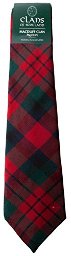 I Luv Ltd MacDuff Clan 100% Wool Scottish Tartan Tie