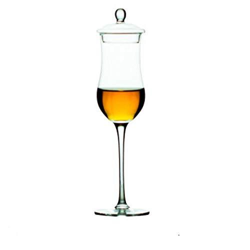 Copa de whisky escocés Copita con tapa Whisky Cognac Brandy Snifter XO Chivas Tulip Goblet para Sommelier Winetaster Cup