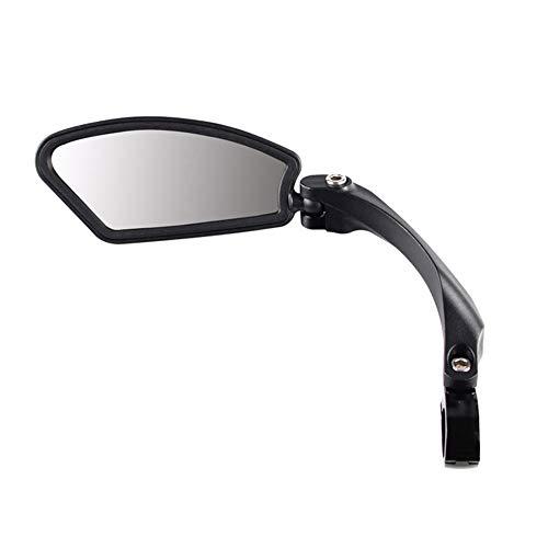 Nai-Style Lenker Fahrrad Rückspiegel Linke Fahrradspiegel Edelstahl Objektiv Fahrrad Linke Seite Rückspiegel Einstellbar MTB Lenker Spiegel