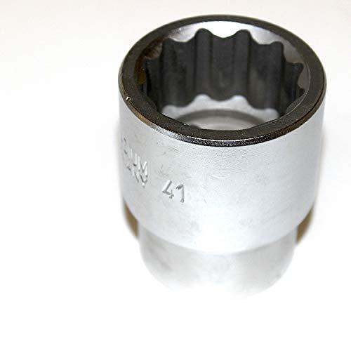 Steckschlüsseleinsatz Stecknuss Zwölfkant 1 zoll 25 mm Antrieb. Schlüsselweite SW 41 mm CV-Stahl sehr gute Qualität. WGB, 10 Jahre Garantie. Metrische 12 kant Nuss Steckschlüssel Zwölfkantnuss