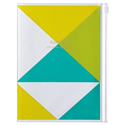 MARK'S 2020 Taschenkalender A5 vertikal, Geometric Pattern YELLOW