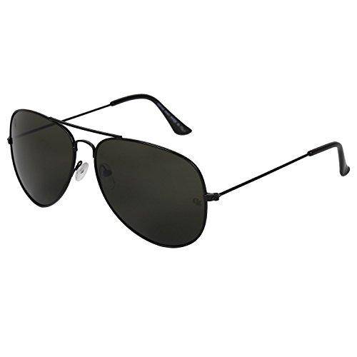 Opticalskart Gafas de sol de aviador de plástico negro