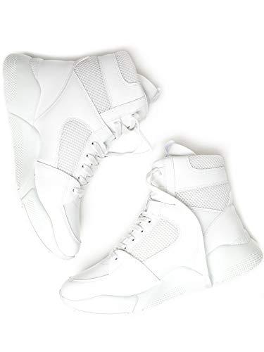 Will's Vegan - Zapatos de Mujer Chicago High-Tops-6 UK / 39 EU / 8 US Blanco
